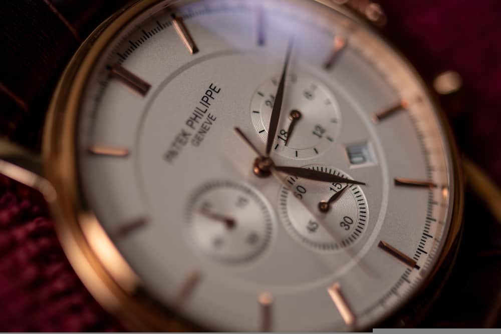 patek philippe mens wrist watch closeup