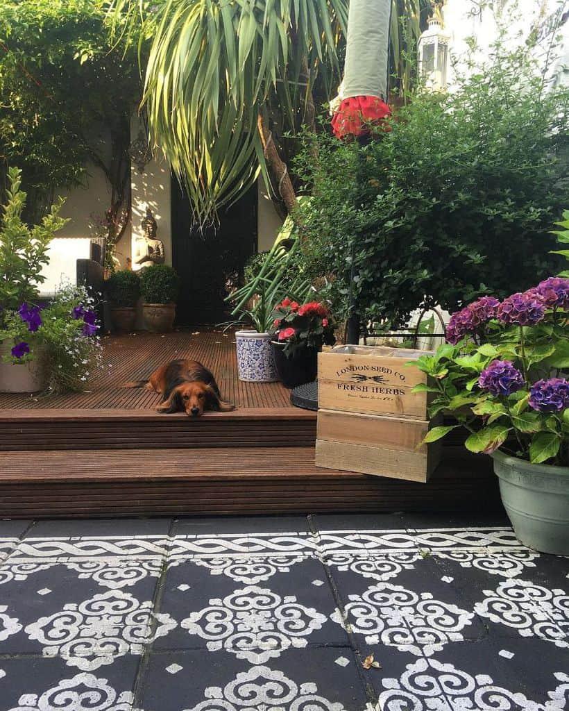 patio container garden ideas doxyinterior
