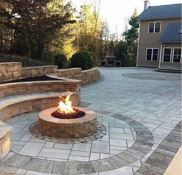 Patio Firepit Cool Outdoor Ideas Round