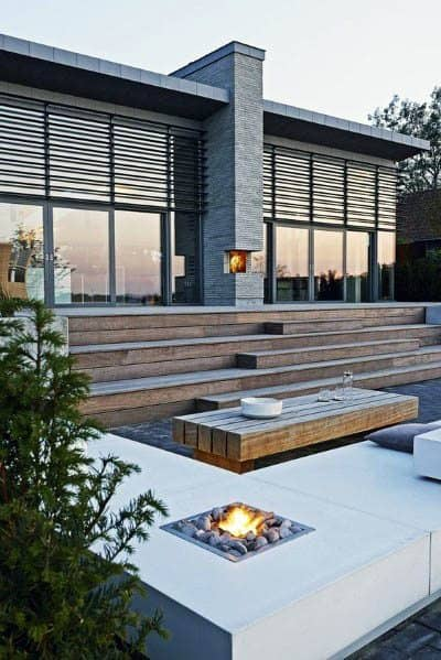 Patio Firepit Design Idea Inspiration Modern Homes