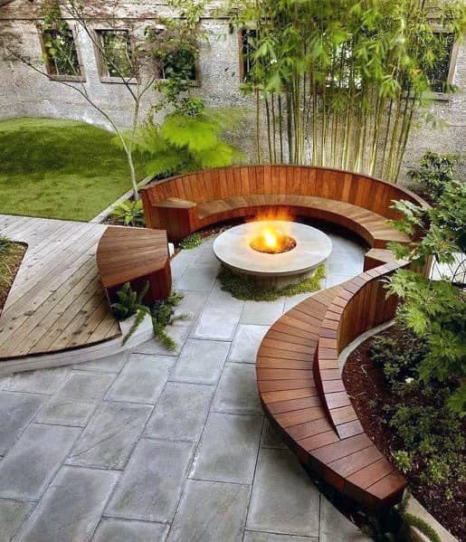 Patio Firepit Home Designs Circular