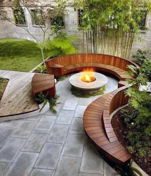 Patio Firepit Home Designs Circular