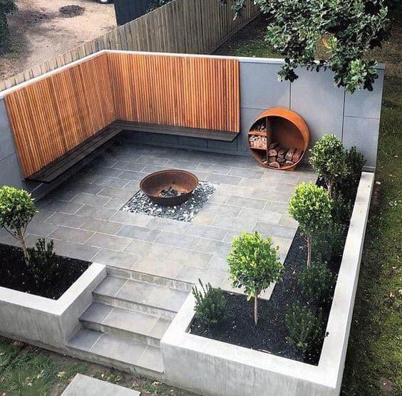 Patio Firepit Home Ideas Modern