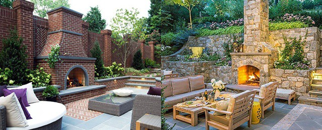 Top 60 Best Patio Fireplace Ideas Backyard Living Space Designs