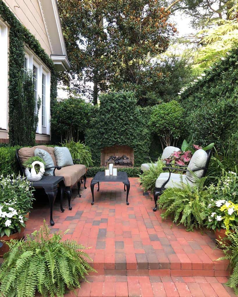 patio furniture small backyard patio ideas adornedsouthernhome