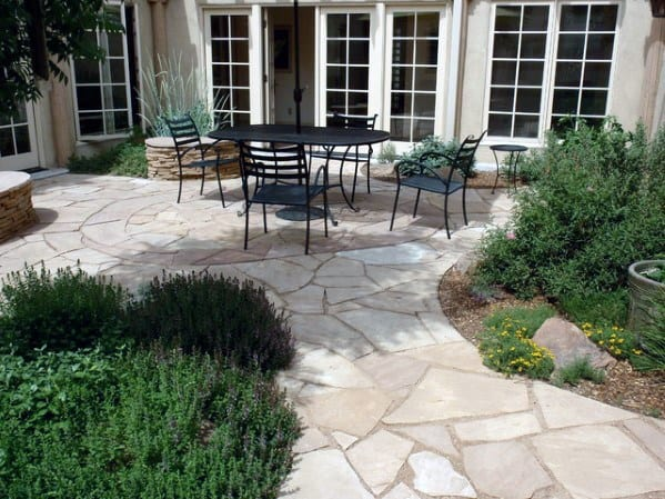 Patio Ideas Flagstone Walkway