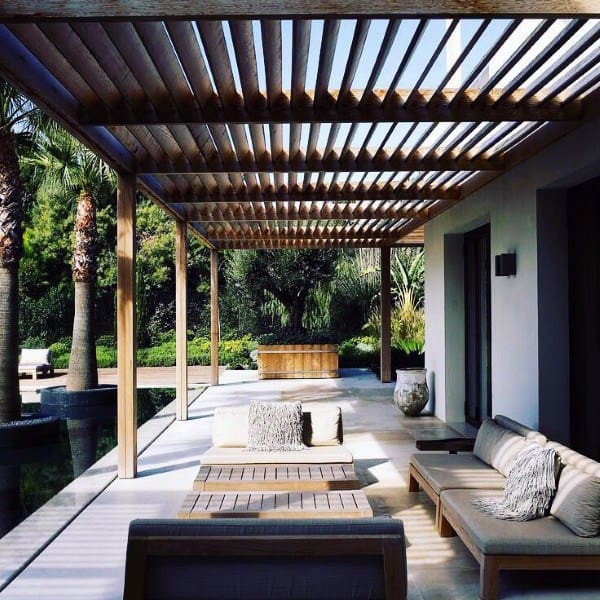 Patio Modern Design Pergola Ideas