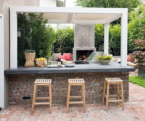 Patio Outdoor Backyard Bar Designs