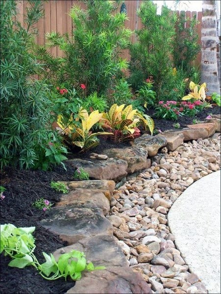Patio River Rock Landscaping Home Designs