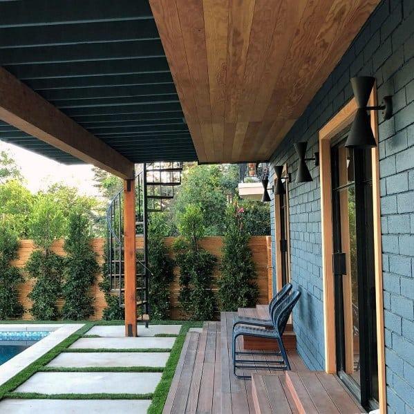 Patio Roof Backyard Design