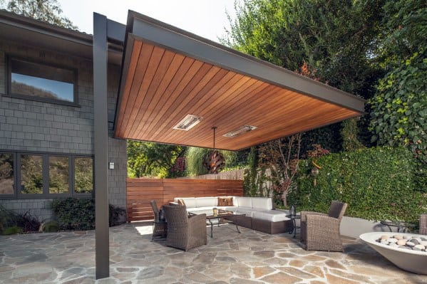 Patio Roof Cool Backyard Ideas