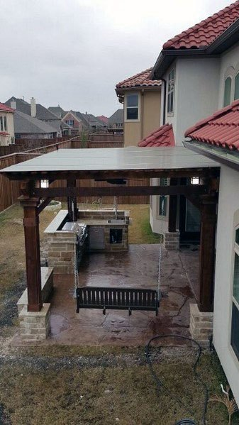 Patio Roof Home Designs