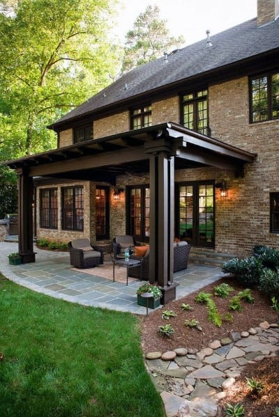 Top 60 Patio Roof Ideas - Covered Shelter Designs on Wood Patio Ideas id=83181