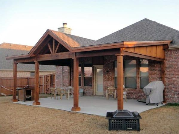 Top 60 Patio Roof Ideas - Covered Shelter Designs on Backyard Overhang Ideas id=28314