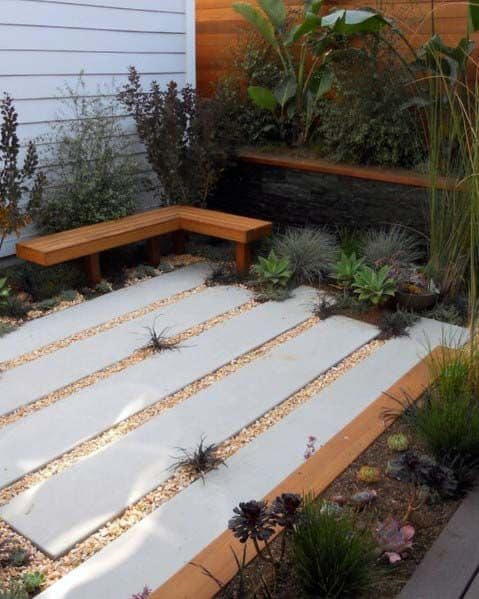 Patio Stepping Stones Gravel Landscaping Cool Exterior Ideas