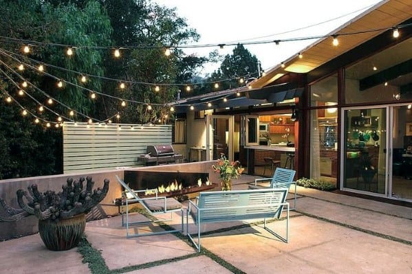 Patio String Light Backyard Ideas
