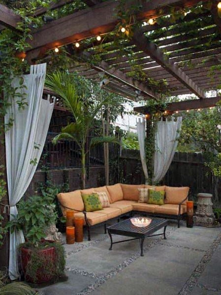 Patio String Light Home Designs Wood Pergola