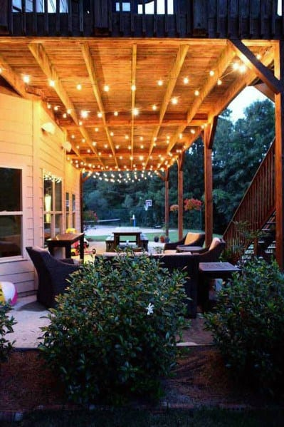 String Light Ideas Outdoor Lighting