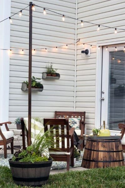 Top 40 Best Patio String Light Ideas - Outdoor Lighting ... on Deck String Lights Ideas id=67435