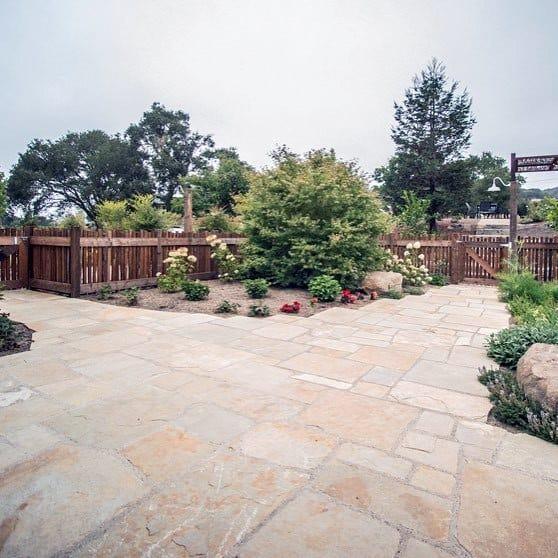 Patio Unique Stone Walkway Designs