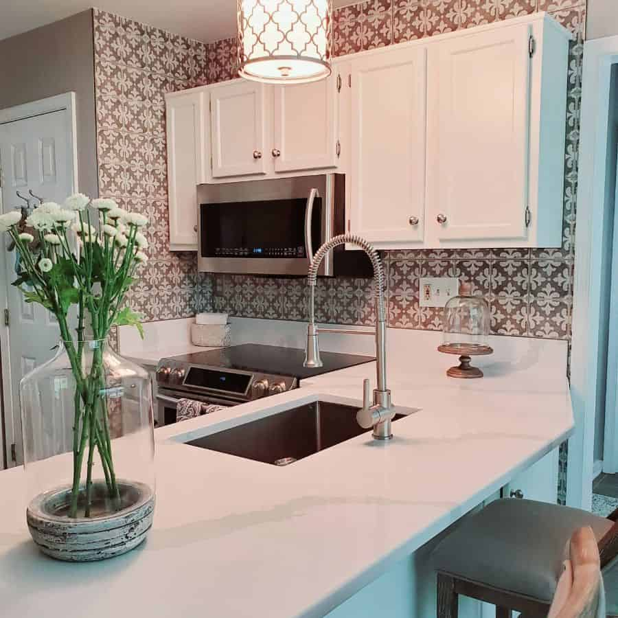 patterened kitchen tile backsplash ideas cozyzebracottage