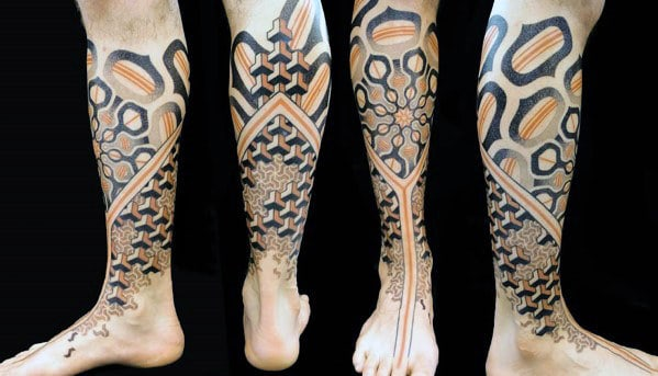 50 3D Leg Tattoo Designs For Men - Manly Ink Ideas