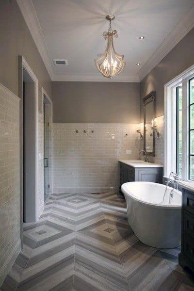 Pattern Bathroom Floor Ideas