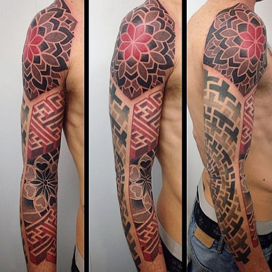 Pattern Male Unique Sleeve Tattoo