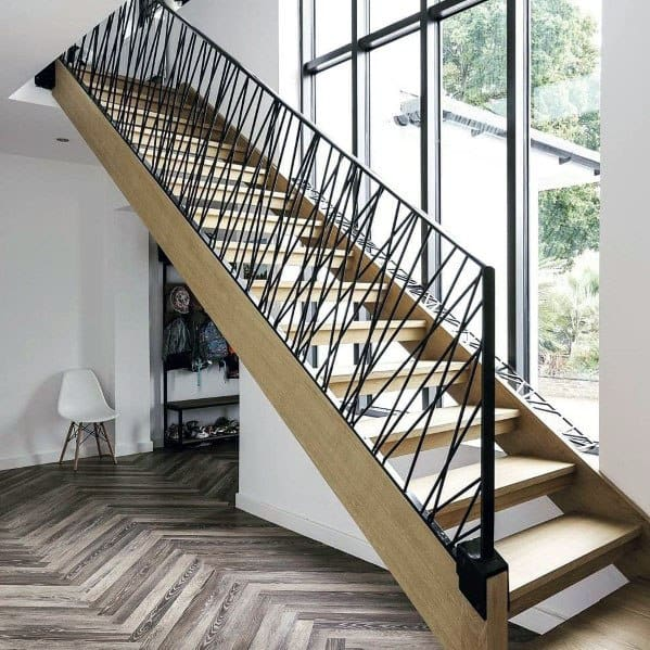 Pattern Metal Home Interior Stair Railing