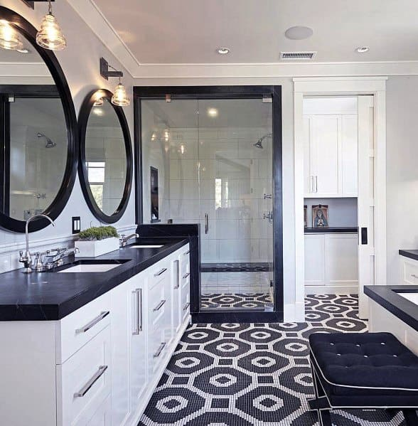 penny,mosaic tile bathroom floor tile ideas