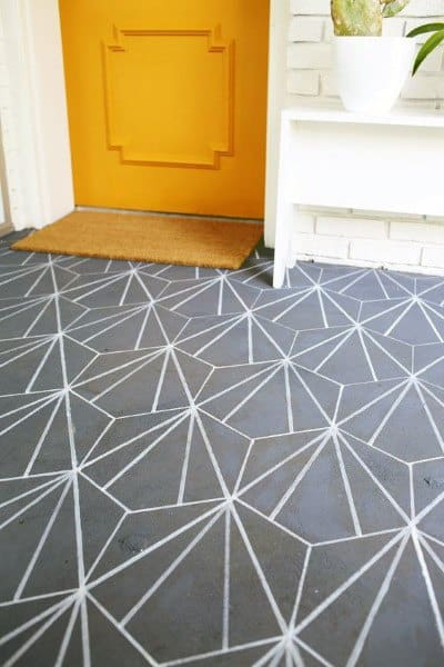 Pattern Painted Concrete Floor Ideas