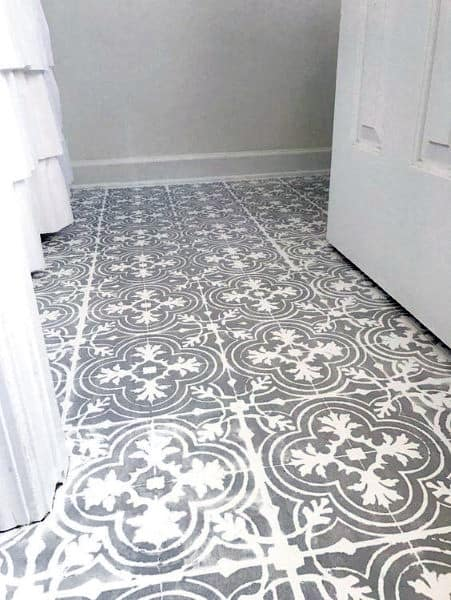 Pattern Painted Concrete Floors Ideas