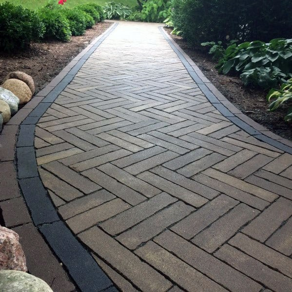 Pattern Path Exceptional Paver Walkway Ideas