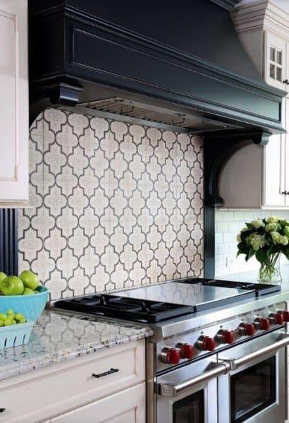 Pattern Tile House Stone Backsplash Ideas