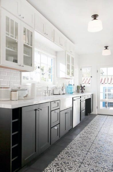 Pattern Tile Kitchen Flooring Ideas