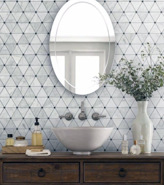 Pattern Triangle Tiles Home Interior Designs Bathroom Backsplash