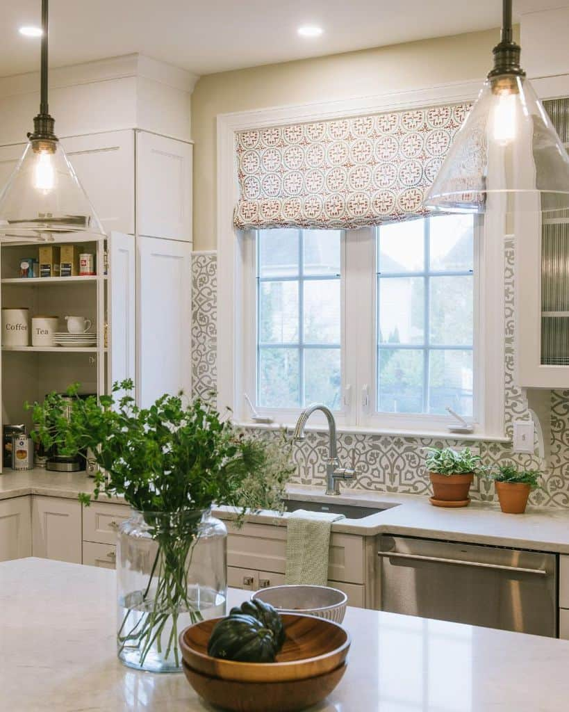 patterned kitchen curtain ideas tuscanbluedesign