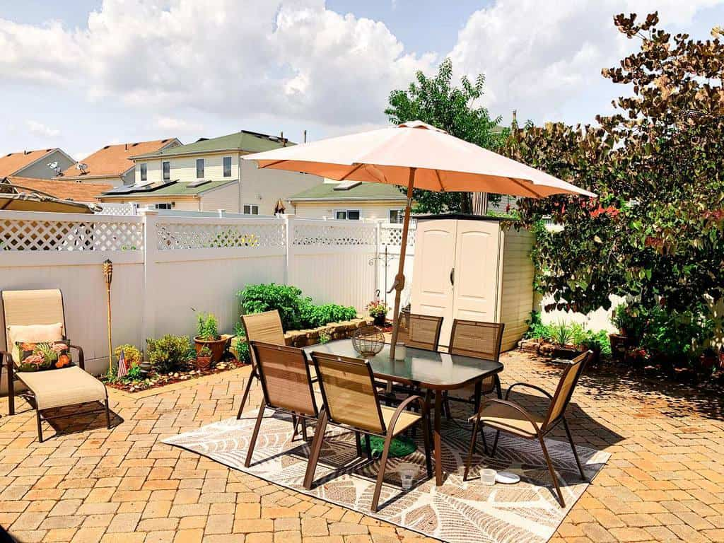 paved patio small backyard patio ideas casacoluch
