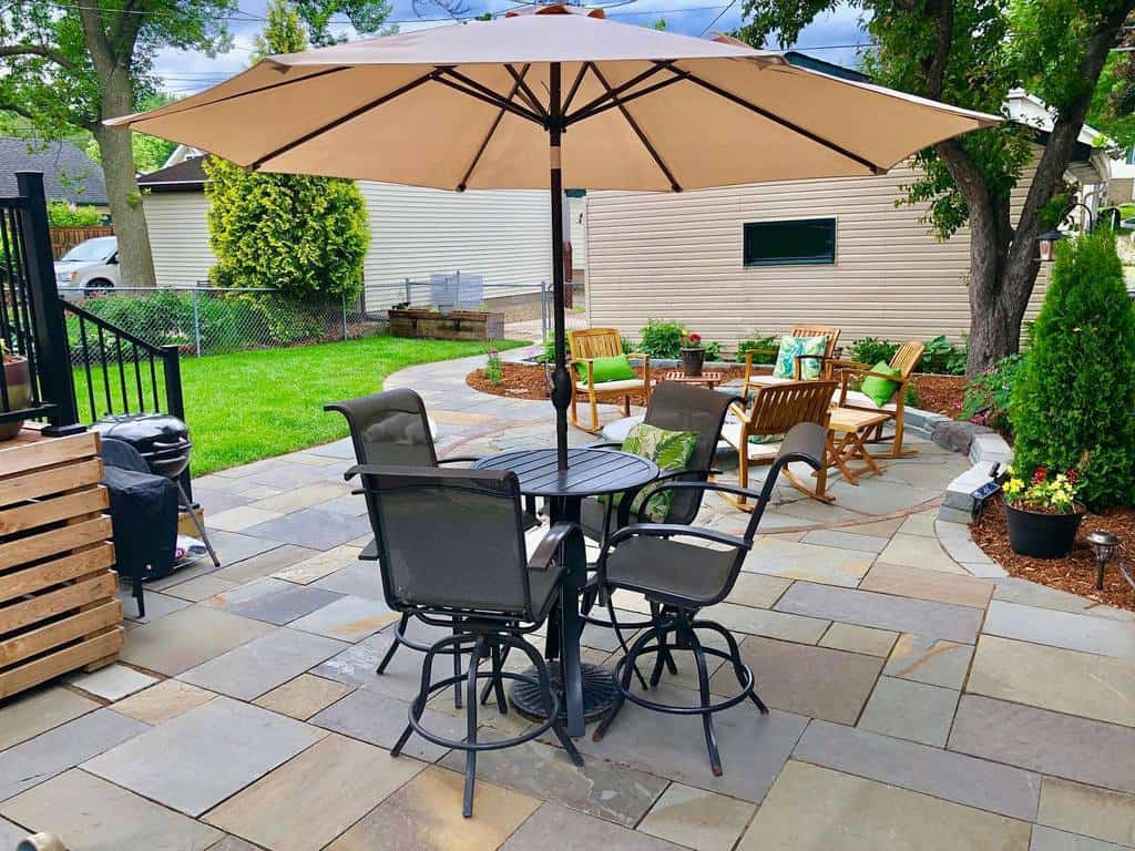 paved patio small backyard patio ideas stonearchlandscapes