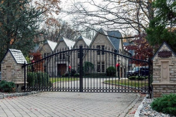 Paver Driveway With Gate Ideas