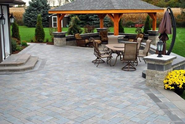 Paver Patio Backyard Design
