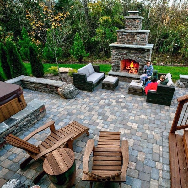 3 Balcony Garden Designs For Inspiration: Top 60 Best Paver Patio Ideas