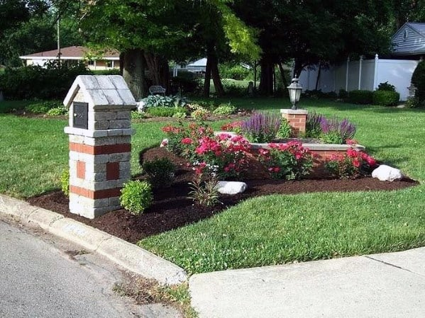Paver Stone Mailbox Landscaping Ideas