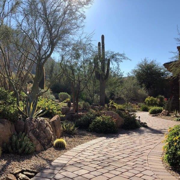 Paver Wakway Designs For Desert Landscaping