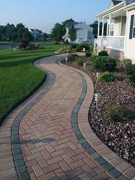 Paver Walkway Design Idea Inspiration