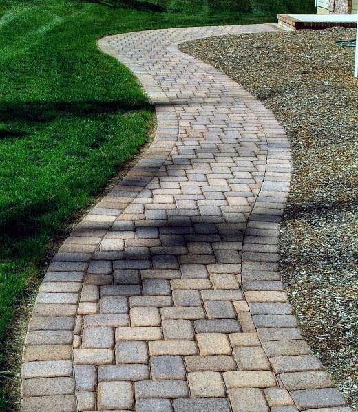 Paver Walkway Design Inspiration