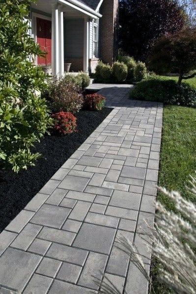 Paver Walkway Home Designs