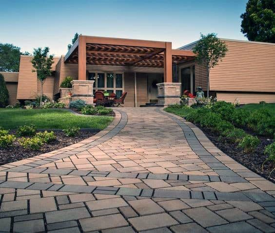 Paver Walkway Home Ideas