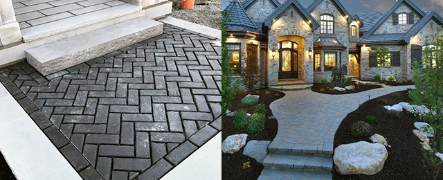 Top 50 Best Paver Walkway Ideas Exterior Hardscape Designs