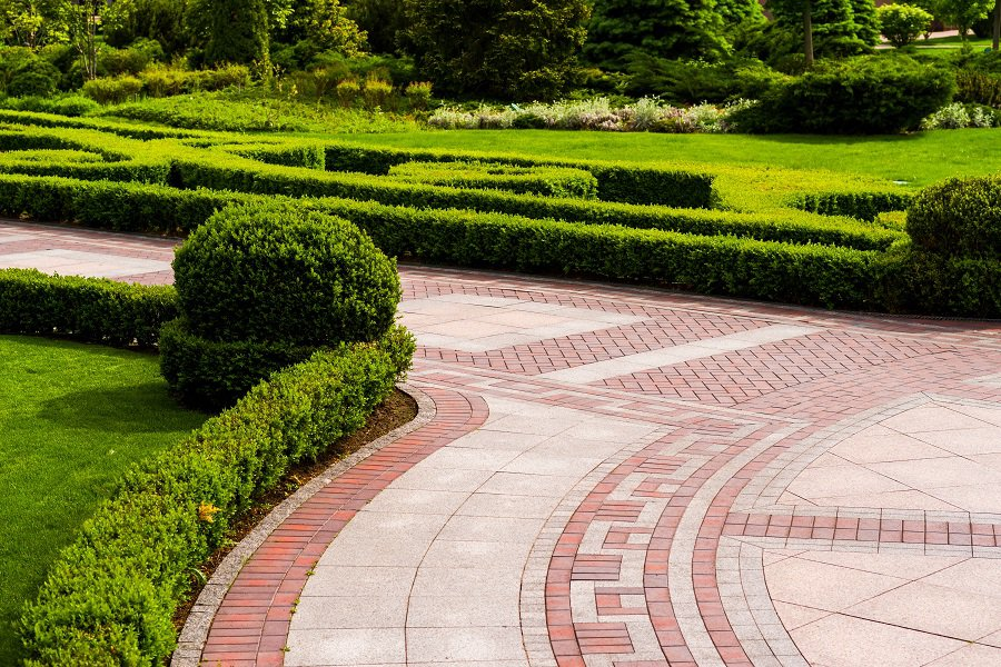 Decorative Pattern Landscaping Walkway Designs